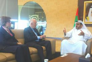 In a meeting with Dr. Anthony Buzan, Leading Author, Lecturer, Educational Consultant and Inventor of Mind Mapping and Dr. Manahel Thabet, Economist, Scientist and President at Smart Tips Consultants, Dubai, UAE
