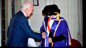 A warm congrats from the master of intelligence @Tony_Buzan for my new Phd. Thank you Tony!