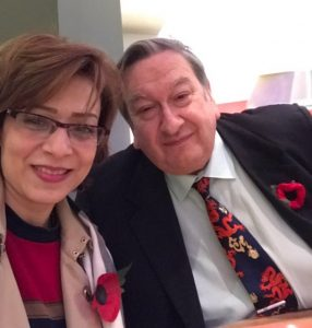 A picture with my mentor, teacher and dear friend GM Raymond Keene @Times_Chess on the #RemembranceDay #WeWillRememberThem